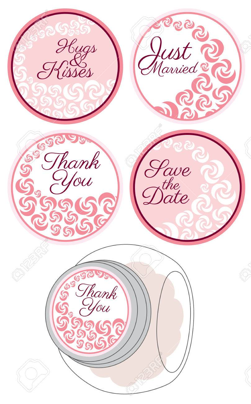 Personalized Candy Sticker Labels With Rose Set - Perfect Addition ...