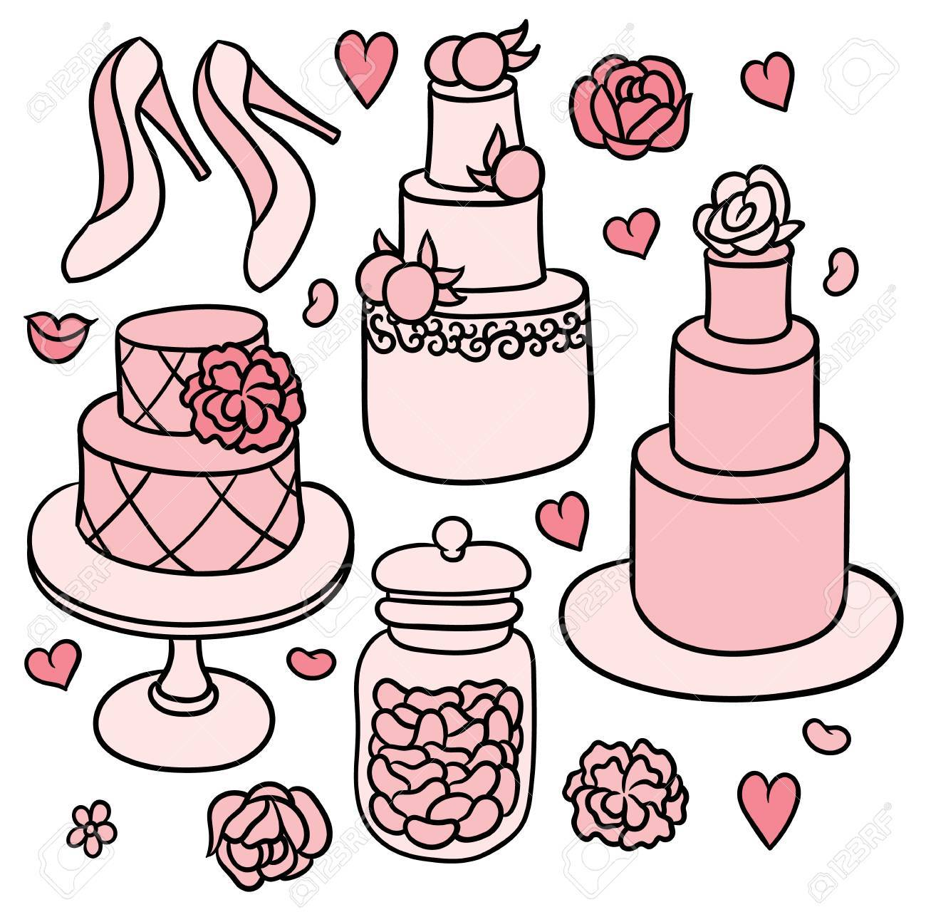 Free Wedding Stuff.Flowers Shoes Cakes And Hearts Sweet Romantic Wedding Stuff