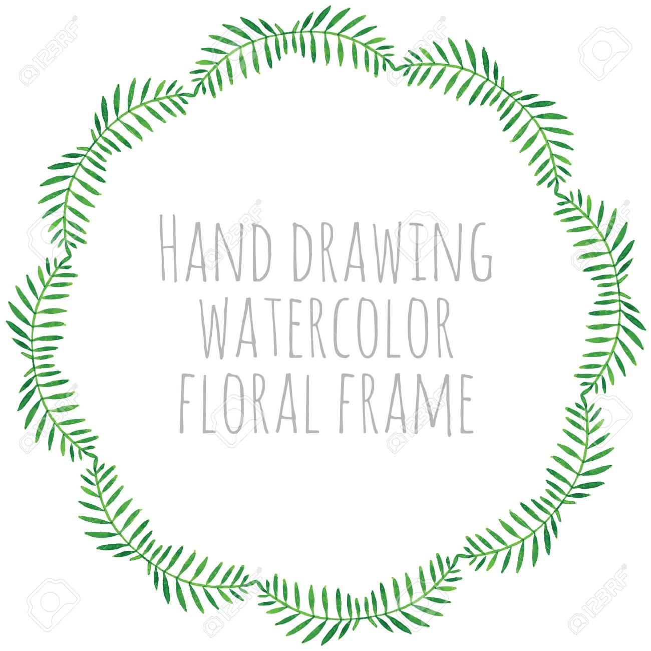Hand Malen Rahmen Von Aquarellblumen In Vektor. Perfekte Hand Malen ...