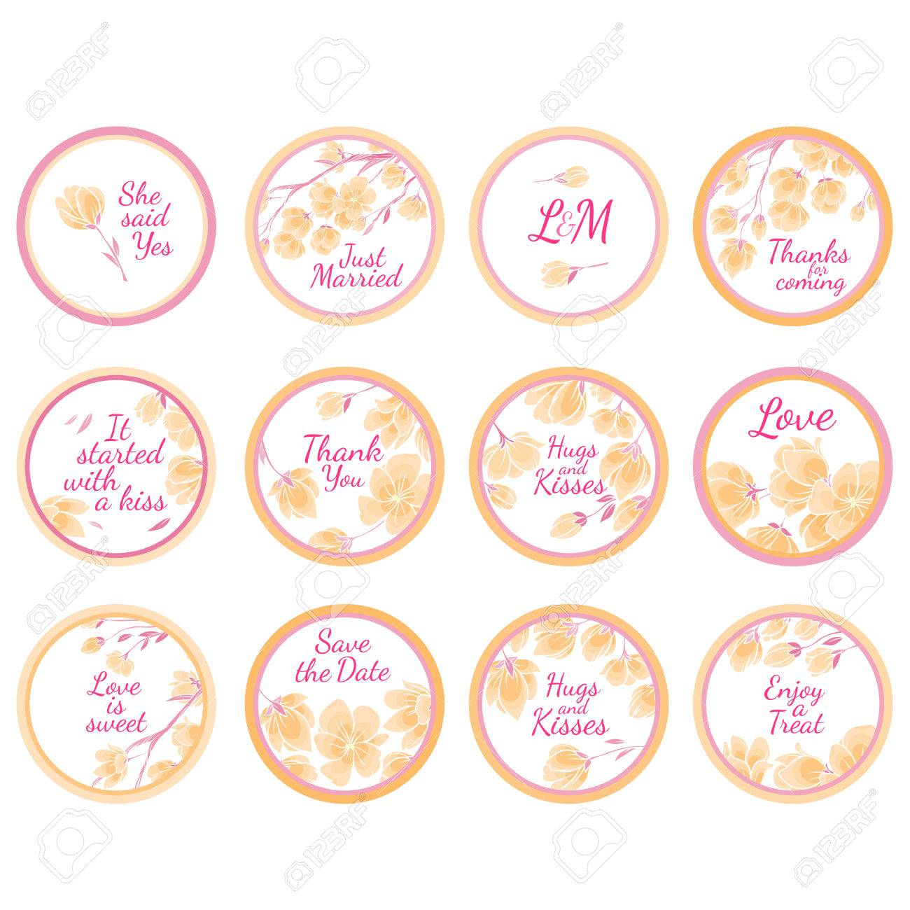 Personalized Candy Sticker Labels with sakura big set - perfect