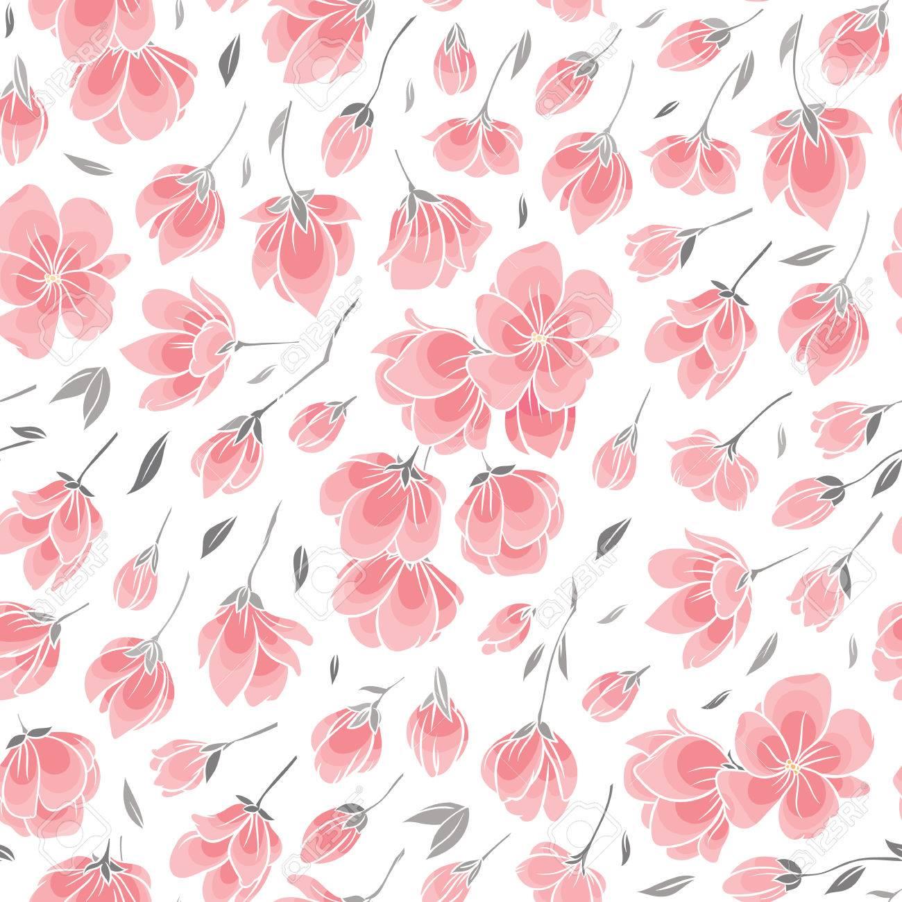 Motif De Fond Sans Couture Fleur Rose De Sakura Cerisier A