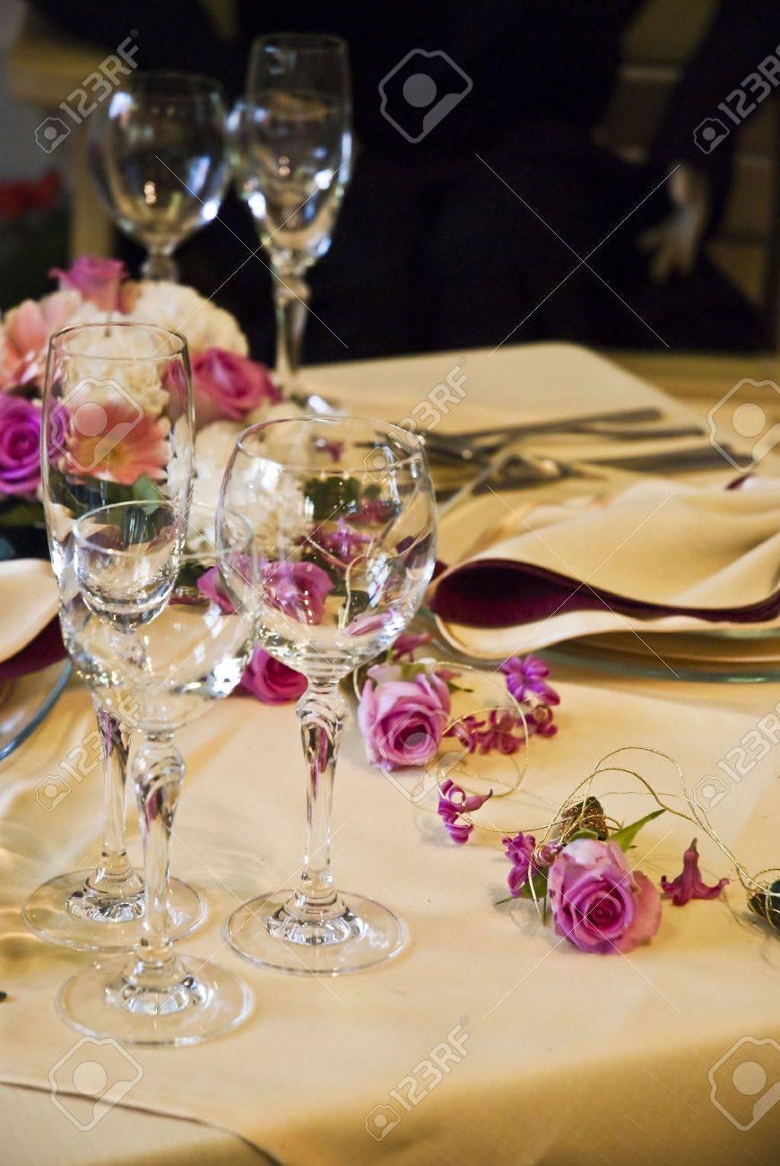 Beautiful wedding table Stock Photo - 5238128