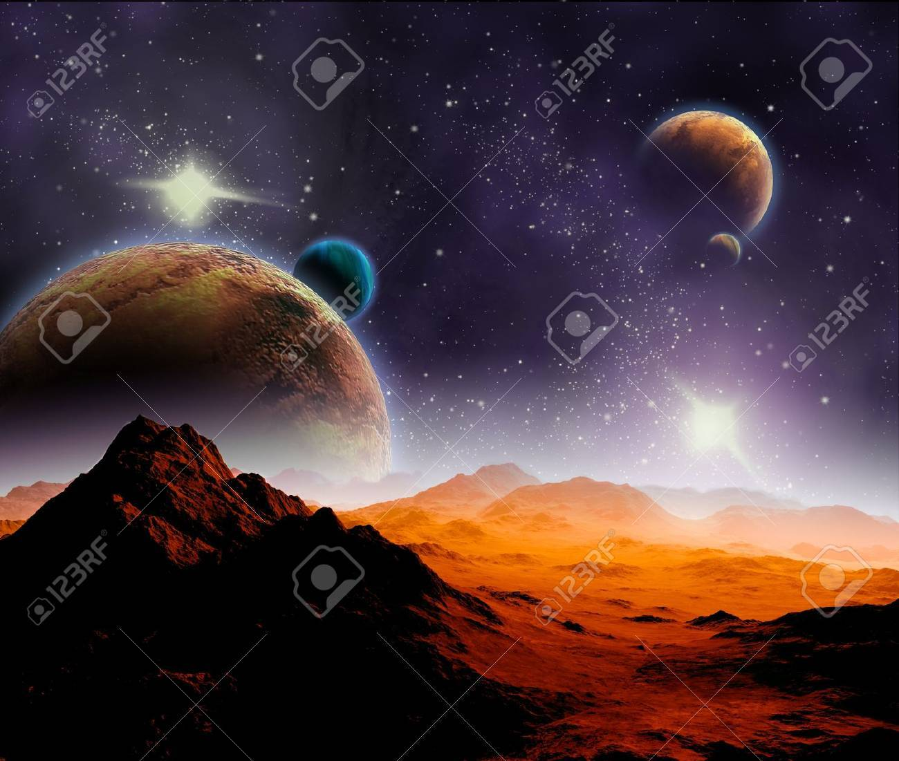 Abstract background of deep space. In the far future travel. New technologies and resources. Stock Photo - 11720899