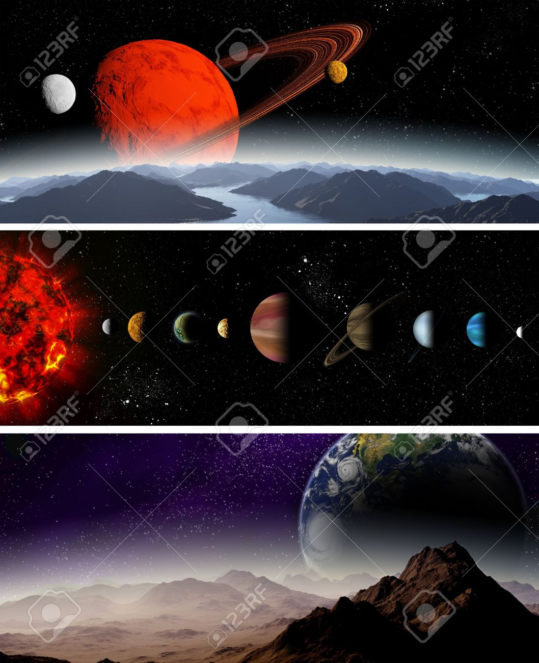 Illustrated diagram showing the order of planets in our solar illustrated diagram showing the order of planets in our solar system abstract illustration of planets ccuart Images
