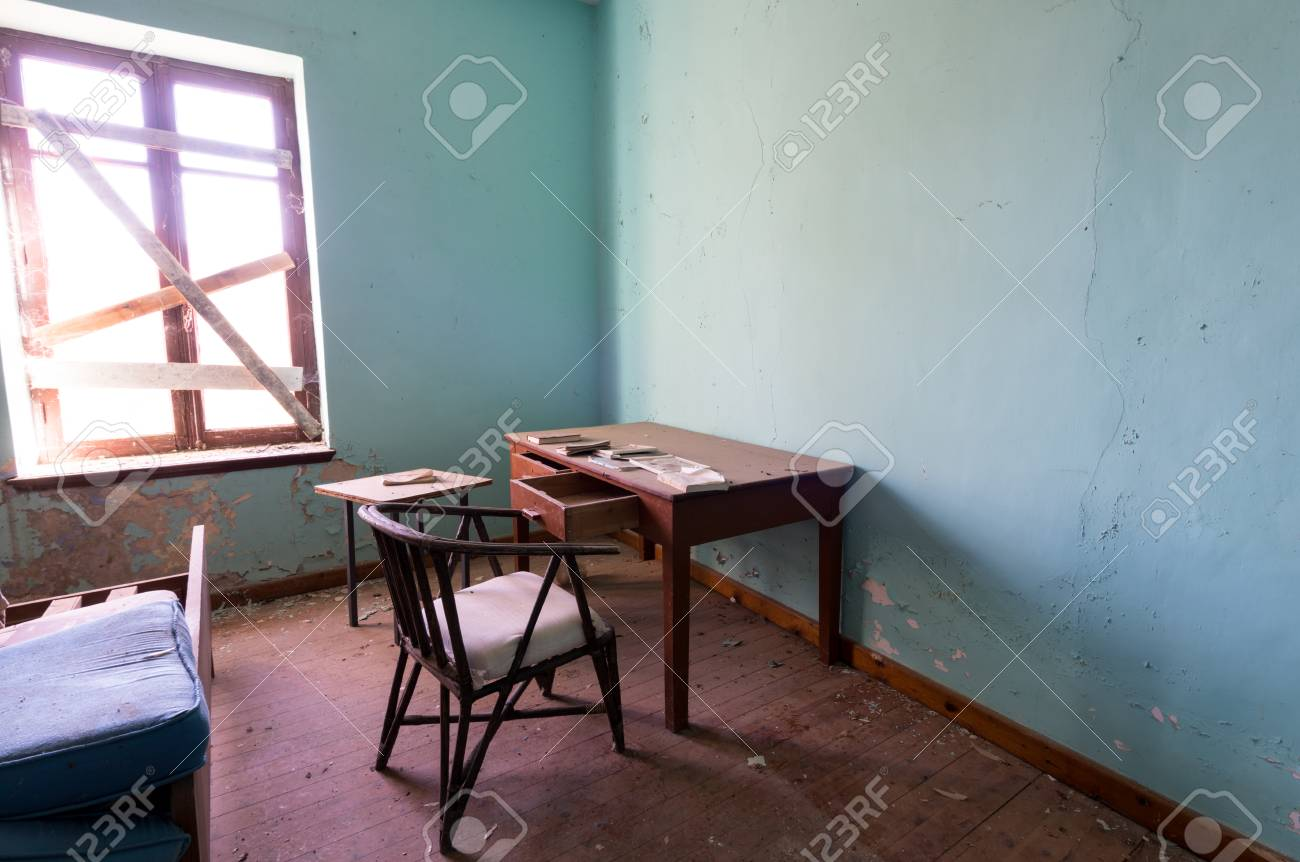 office desk bed. Brilliant Desk Interior Of A Dirty Empty Deserted Room With Office Desk Chair And Bed  Stock Photo  On Office Desk Bed Y