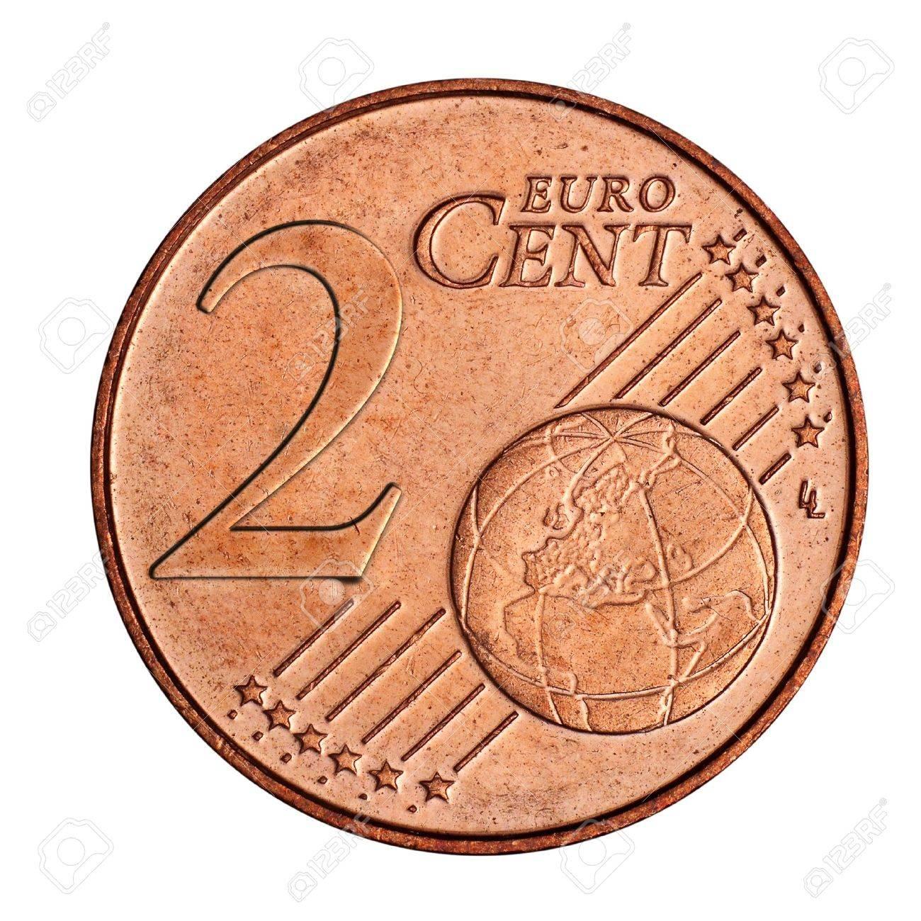 Eine Collage Von 2 Euro Cent Münze Lizenzfreie Fotos Bilder Und