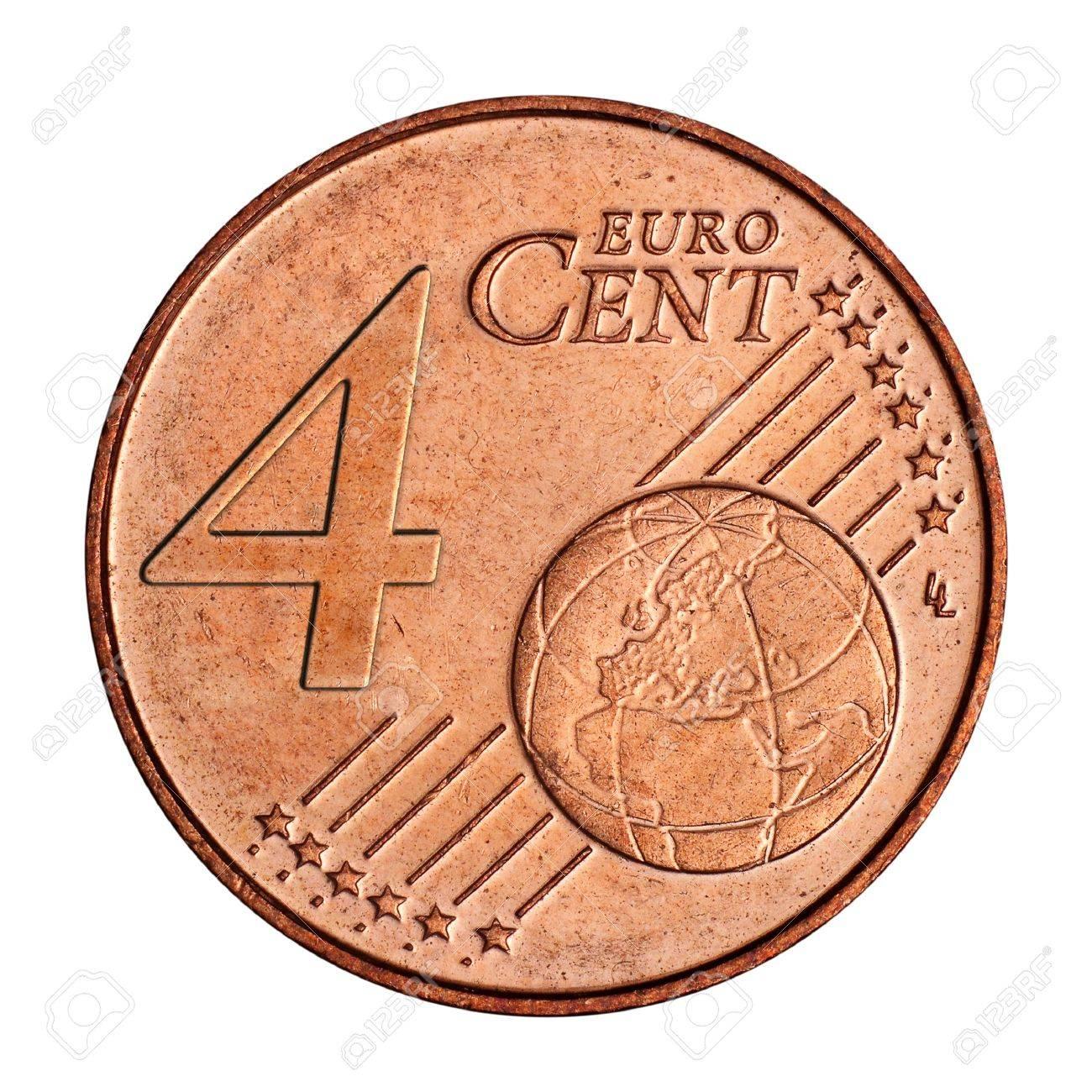 Eine Collage Von 4 Euro Cent Münze Lizenzfreie Fotos Bilder Und
