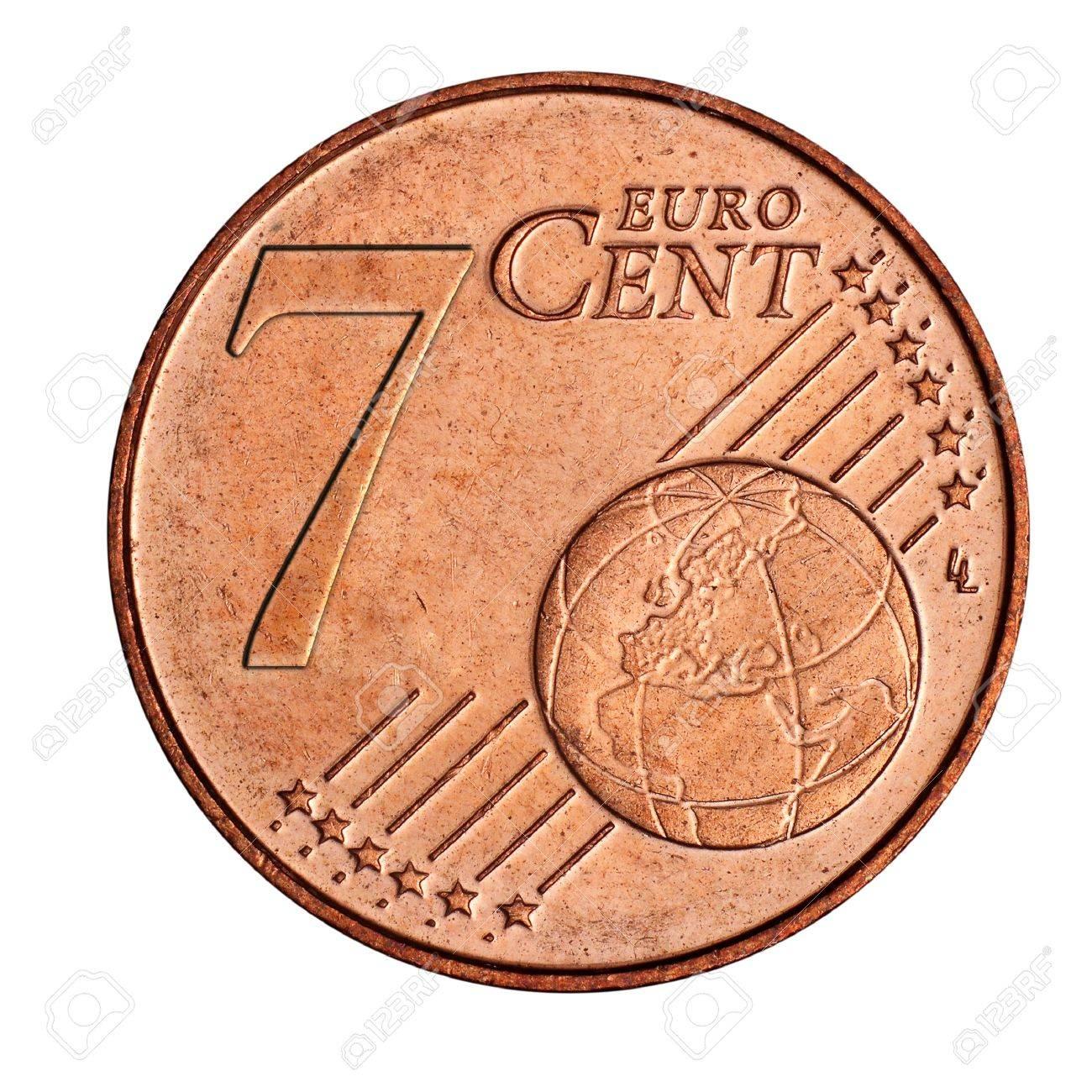 Eine Collage Von 7 Euro Cent Münze Lizenzfreie Fotos Bilder Und