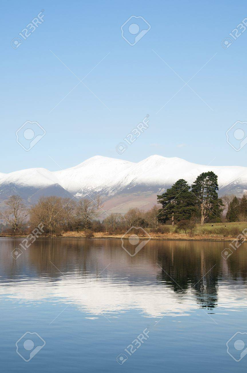 Derwent Water, Cumbria, UK, in Winter. Stock Photo - 19733512