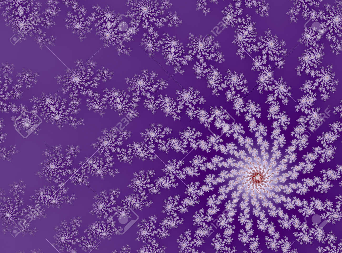 3D-Illustration of a zoom into an infinite mathematical fractal set - 169911883