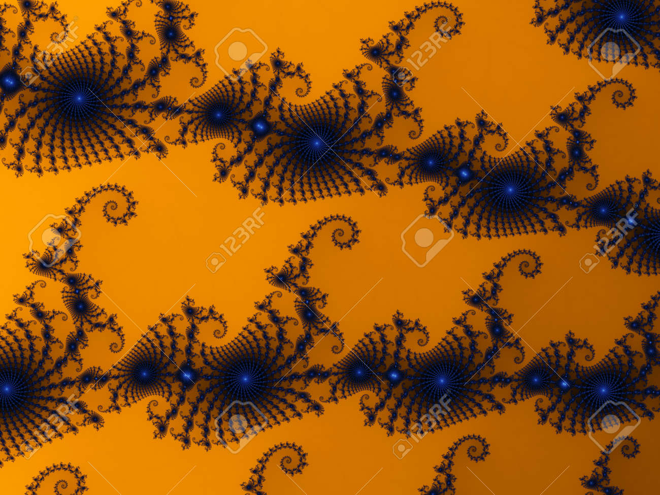 3D-Illustration of a zoom into an infinite mathematical fractal set - 169911884