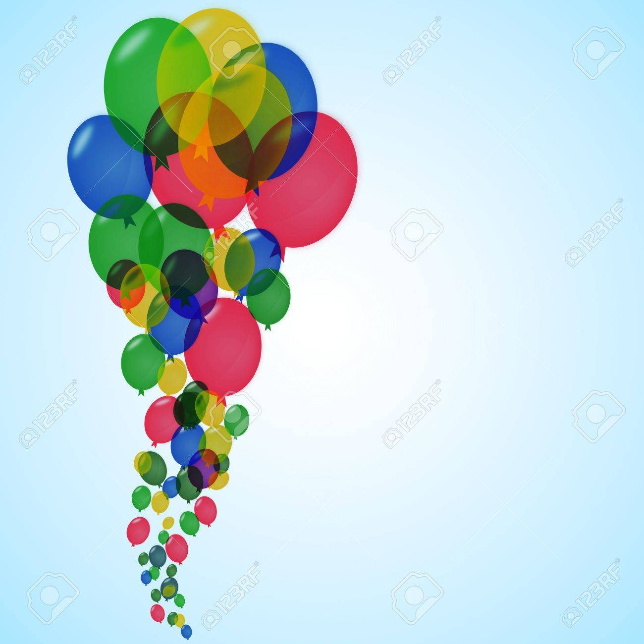 Awesome balloons for party advertisement and for funny life Stock Photo - 14250040