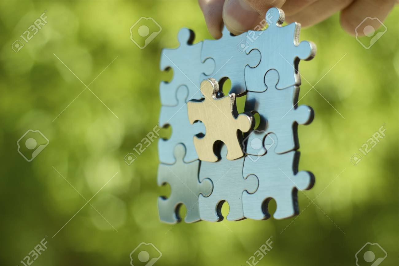 One link is very important. Business concept Stock Photo - 14414867