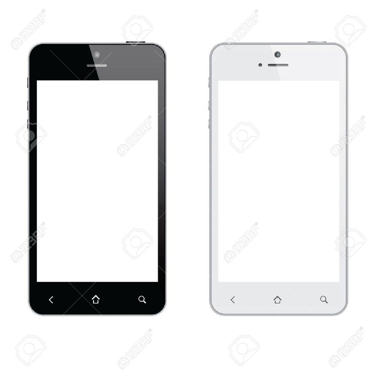Realistic mobile phone isolated Stock Vector - 16603194