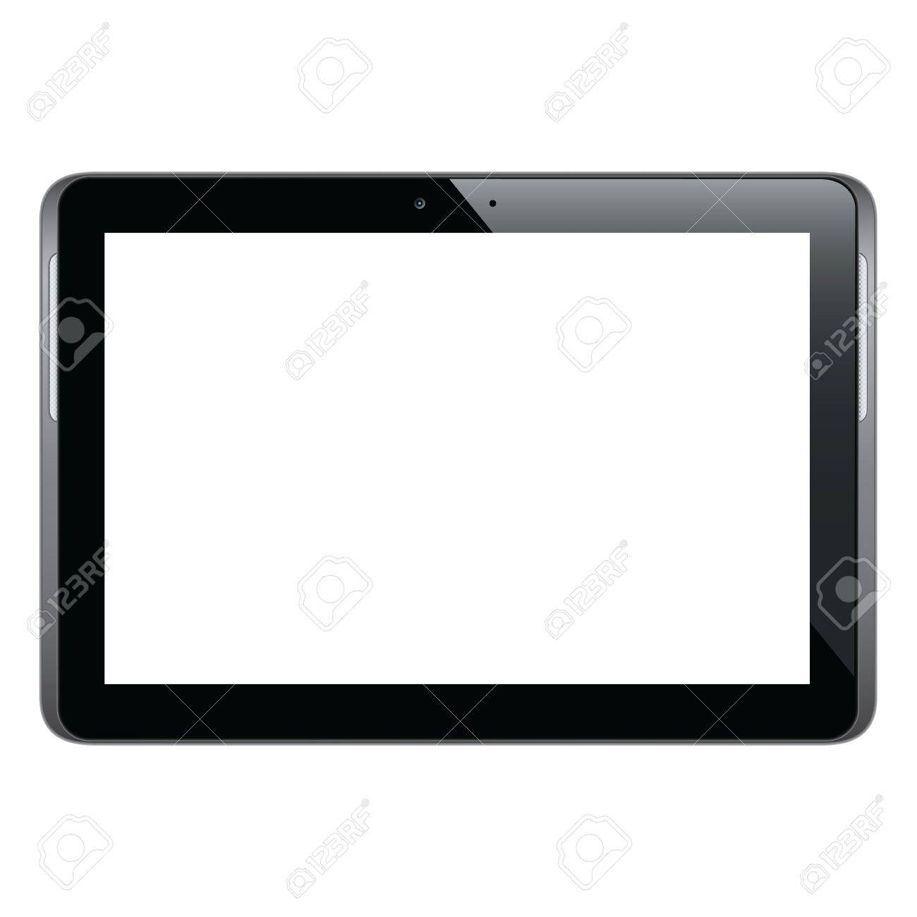 Modern and realistic tablet Stock Vector - 16661357