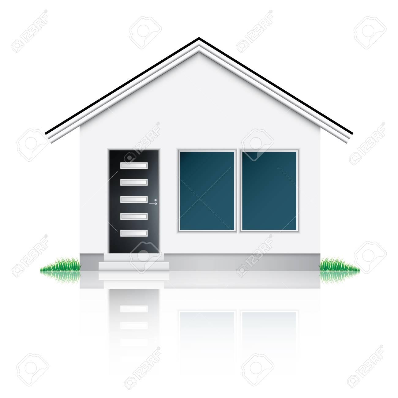 Modern house icon Stock Vector - 17666838