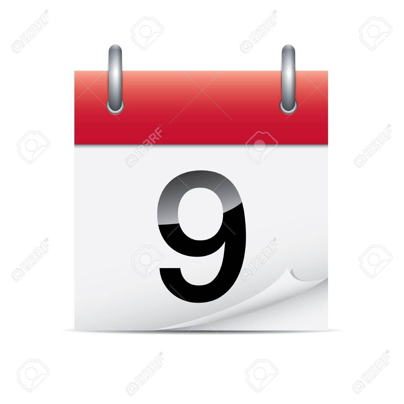 Detailed calendar icon Stock Vector - 17666837