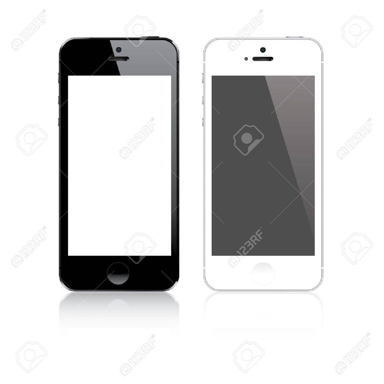 Highly detailed responsive smart phone mockup vector - 20303618
