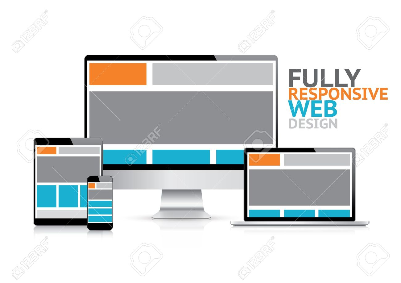 Responsive web design concept in electronic devices Stock Vector - 20821892