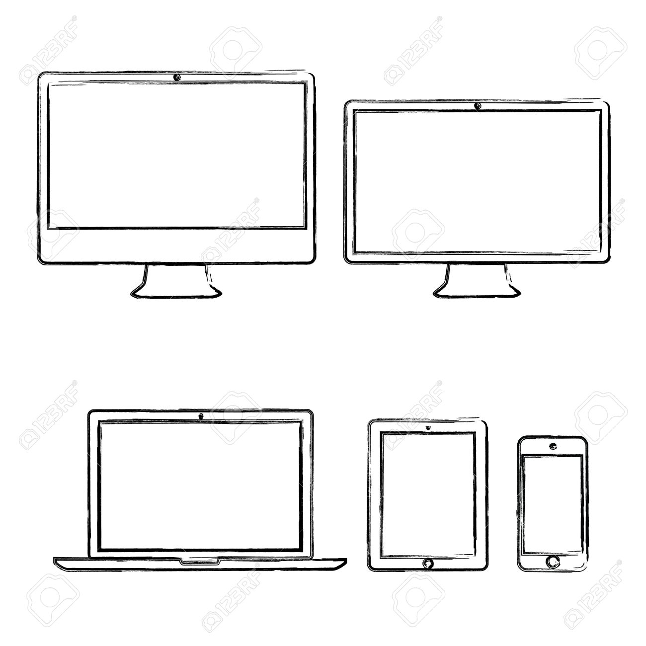 Hand-drawn electronic devices vector illustration Stock Vector - 21019800