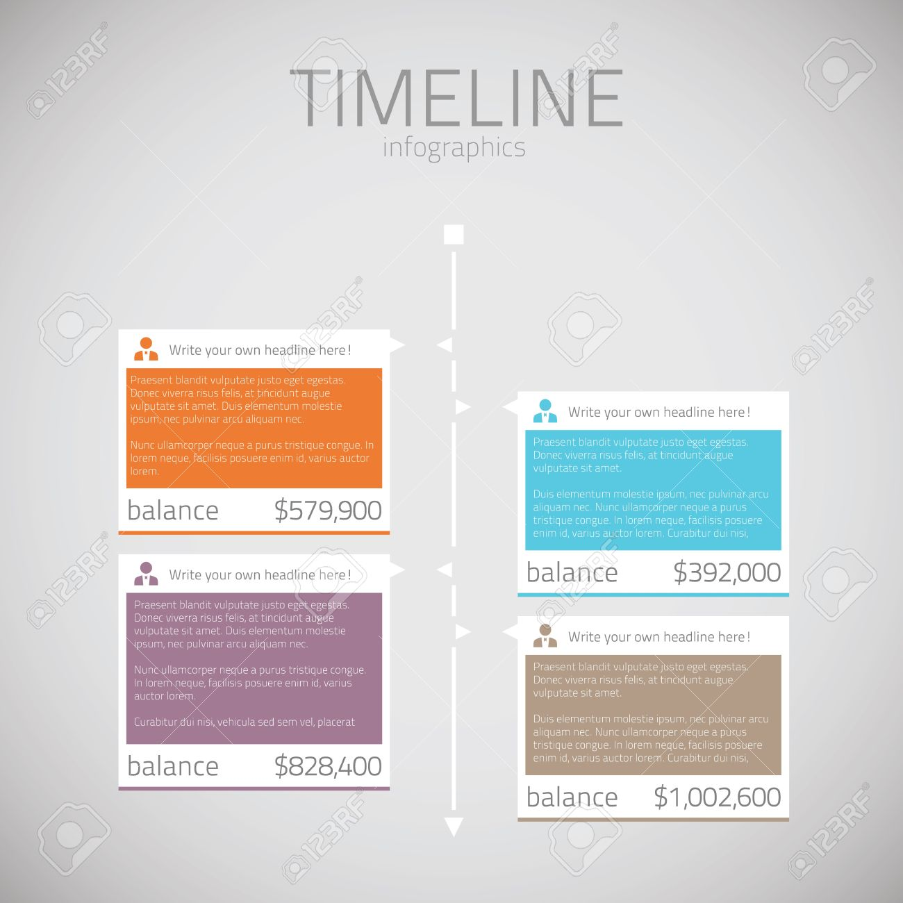 Timeline Infographic Template Vector Royalty Free Cliparts - Timeline html template