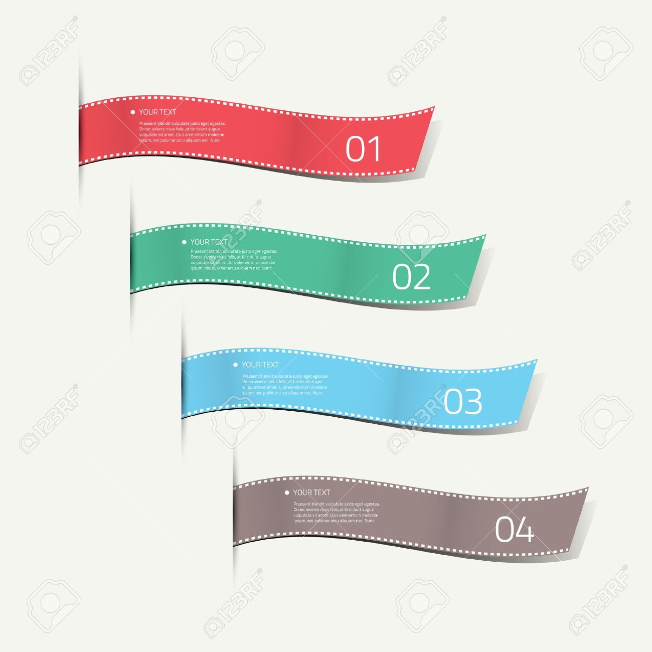 Infographic silk labels decorative Stock Vector - 21999516