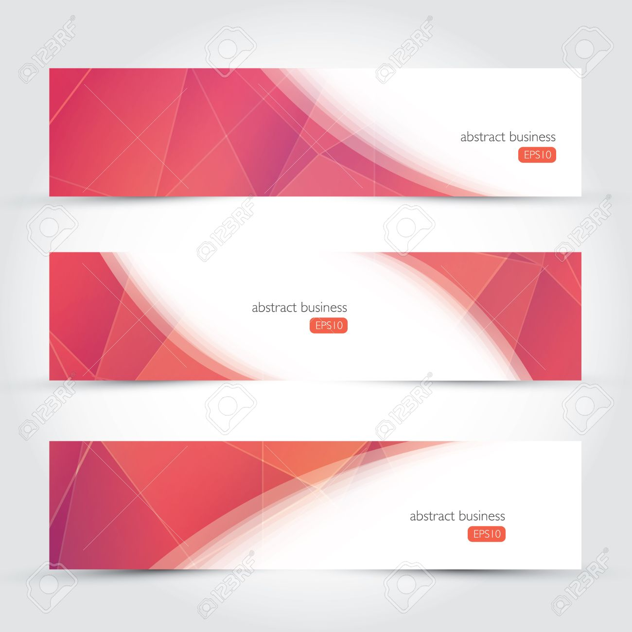 Design vector banner - Three Geometric Design Vector Business Banners Stock Vector 26897205