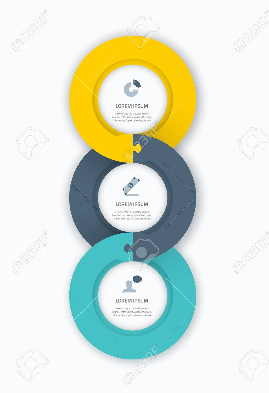 infographic circle timeline web template for business with icons