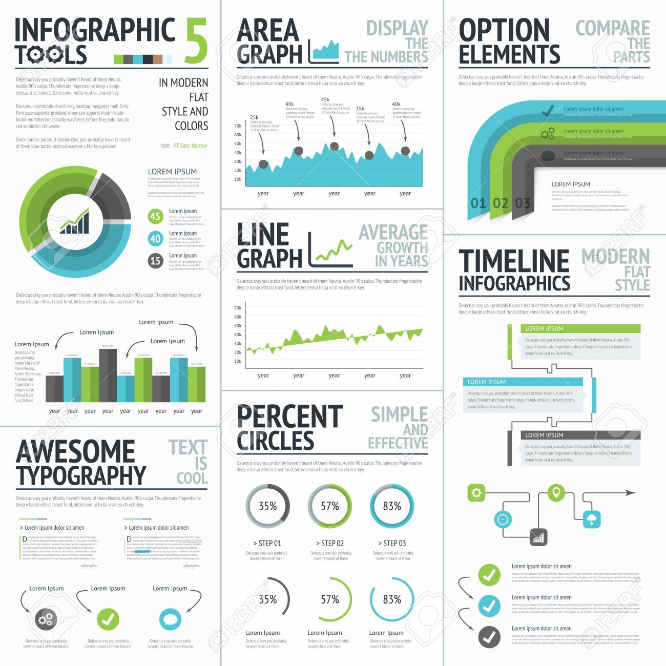 infographic tools and elements to create vector infographics royalty