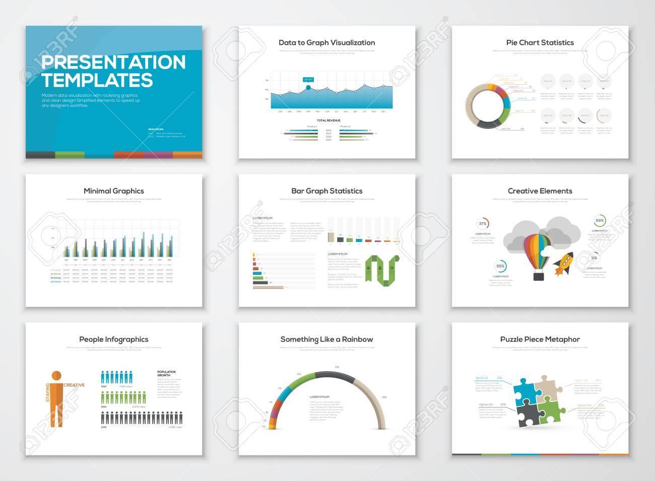 Presentation Slide Templates And Business Vector Brochures Royalty ...