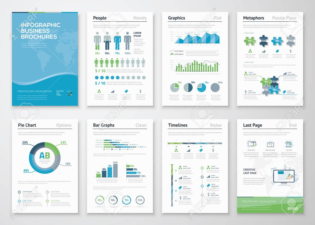 Infographics brochure elements for business data visualization infographics brochure elements for business data visualization stock vector 35400538 publicscrutiny Images
