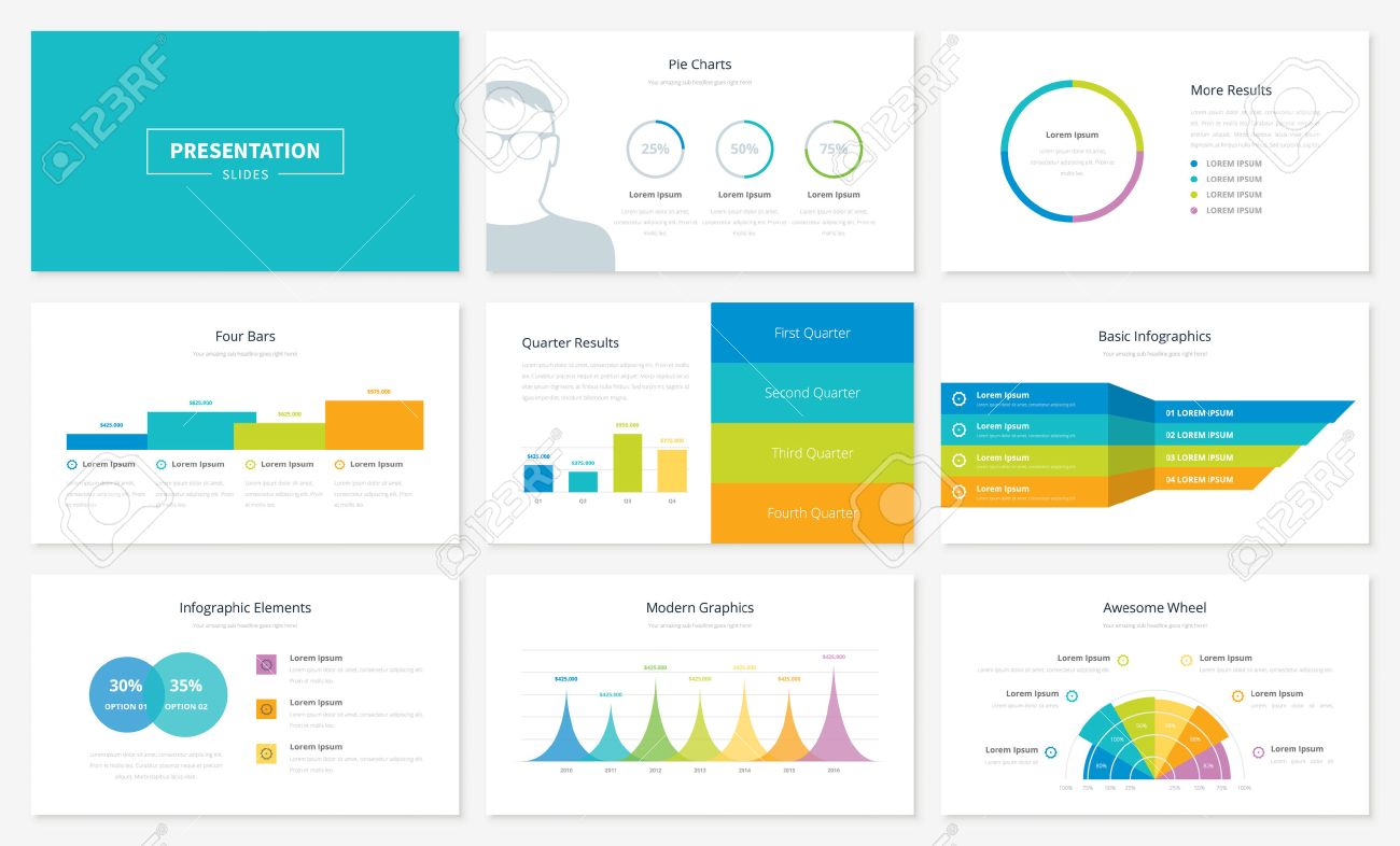 infographic presentation slide templates and vector brochures