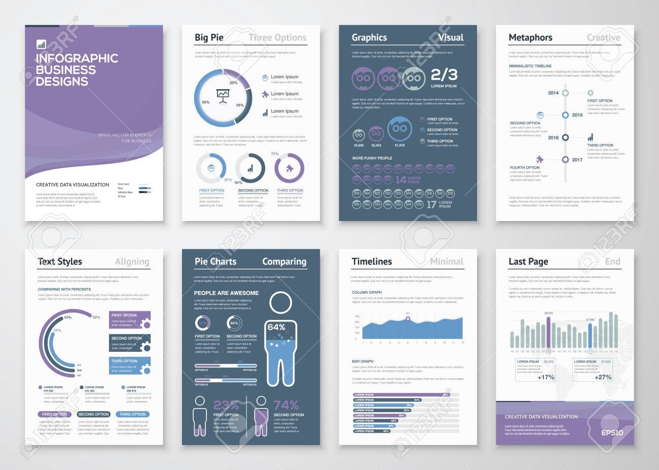 Infographics vector elements for business brochures and fliers - 38919923