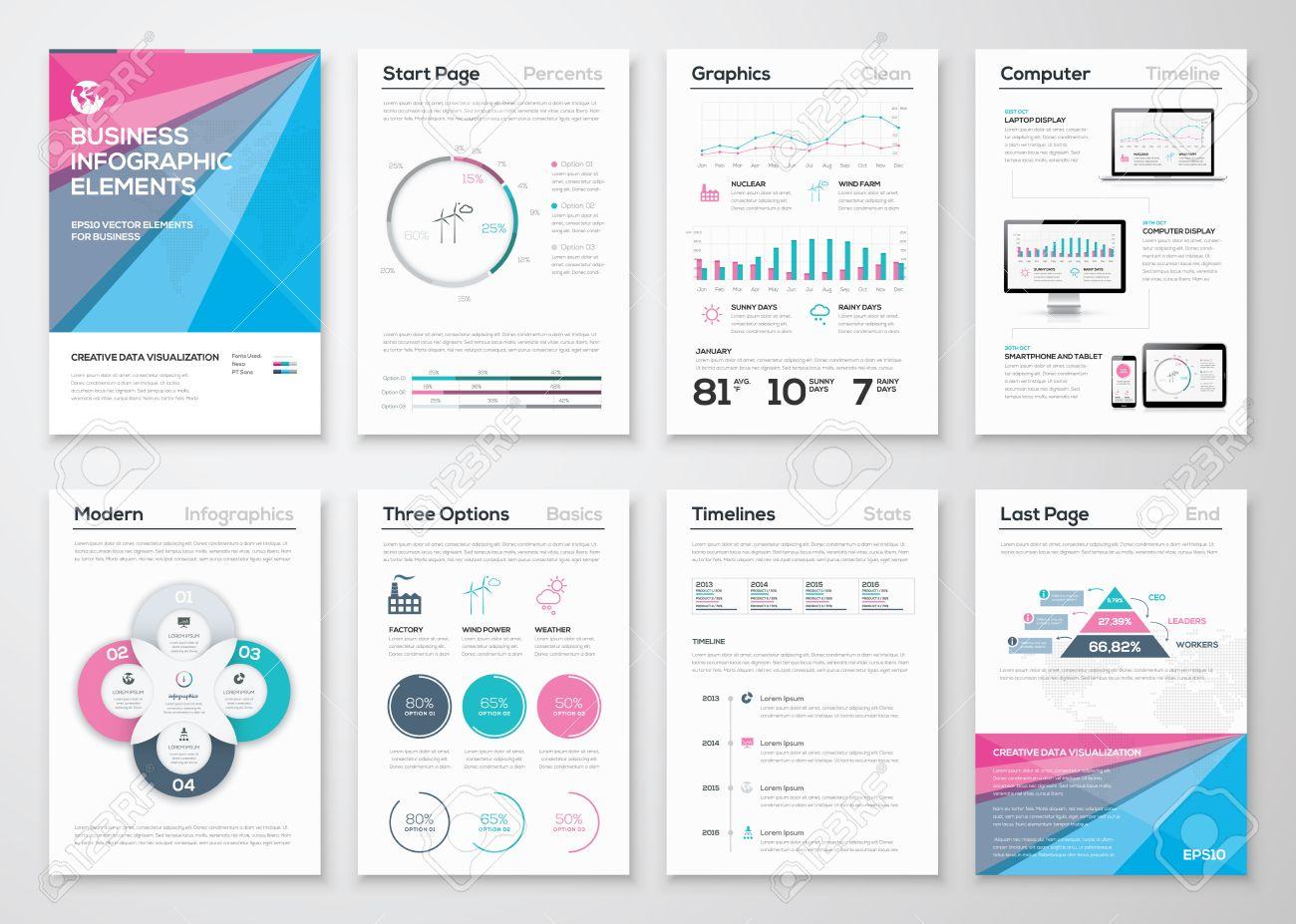 Infografik Business Broschüre Vorlagen Zur Datenvisualisierung ...