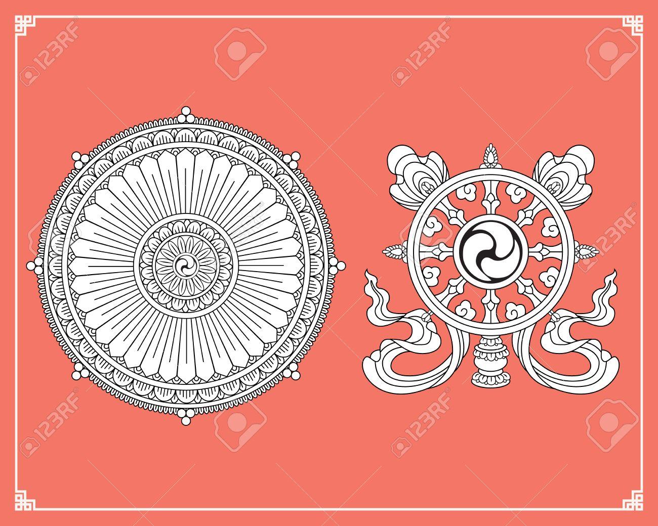 Dharma wheel dharmachakra icons wheel of dharma in black and dharma wheel dharmachakra icons wheel of dharma in black and white design buddhism biocorpaavc Gallery