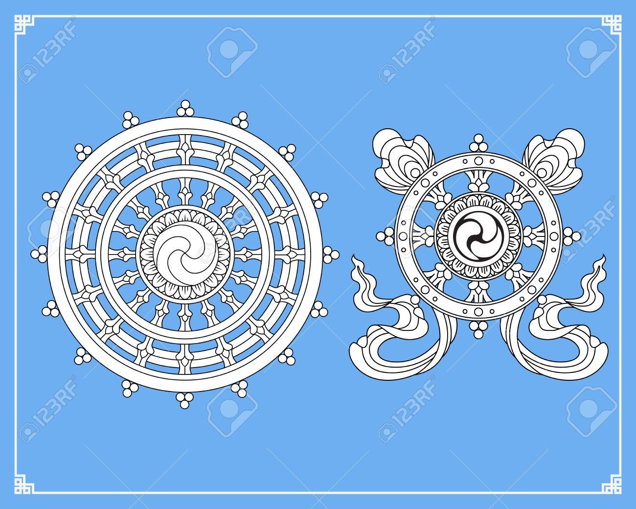 Dharma wheel dharmachakra icons wheel of dharma in black and dharma wheel dharmachakra icons wheel of dharma in black and white design buddhism buycottarizona Image collections