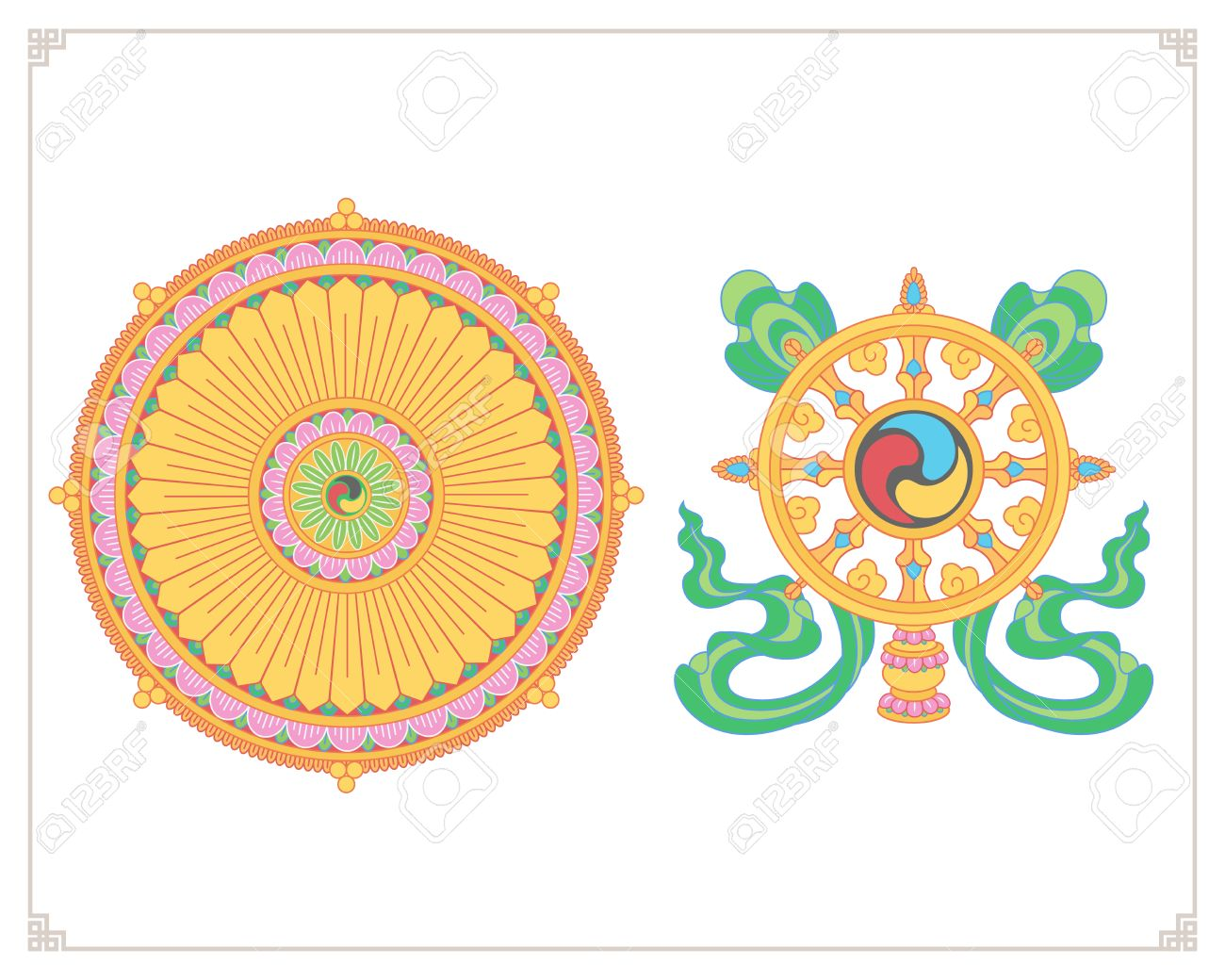 Buddhist symbols images gallery symbol and sign ideas dharma wheel dharmachakra icons wheel of dharma in flat design dharma wheel dharmachakra icons wheel of biocorpaavc