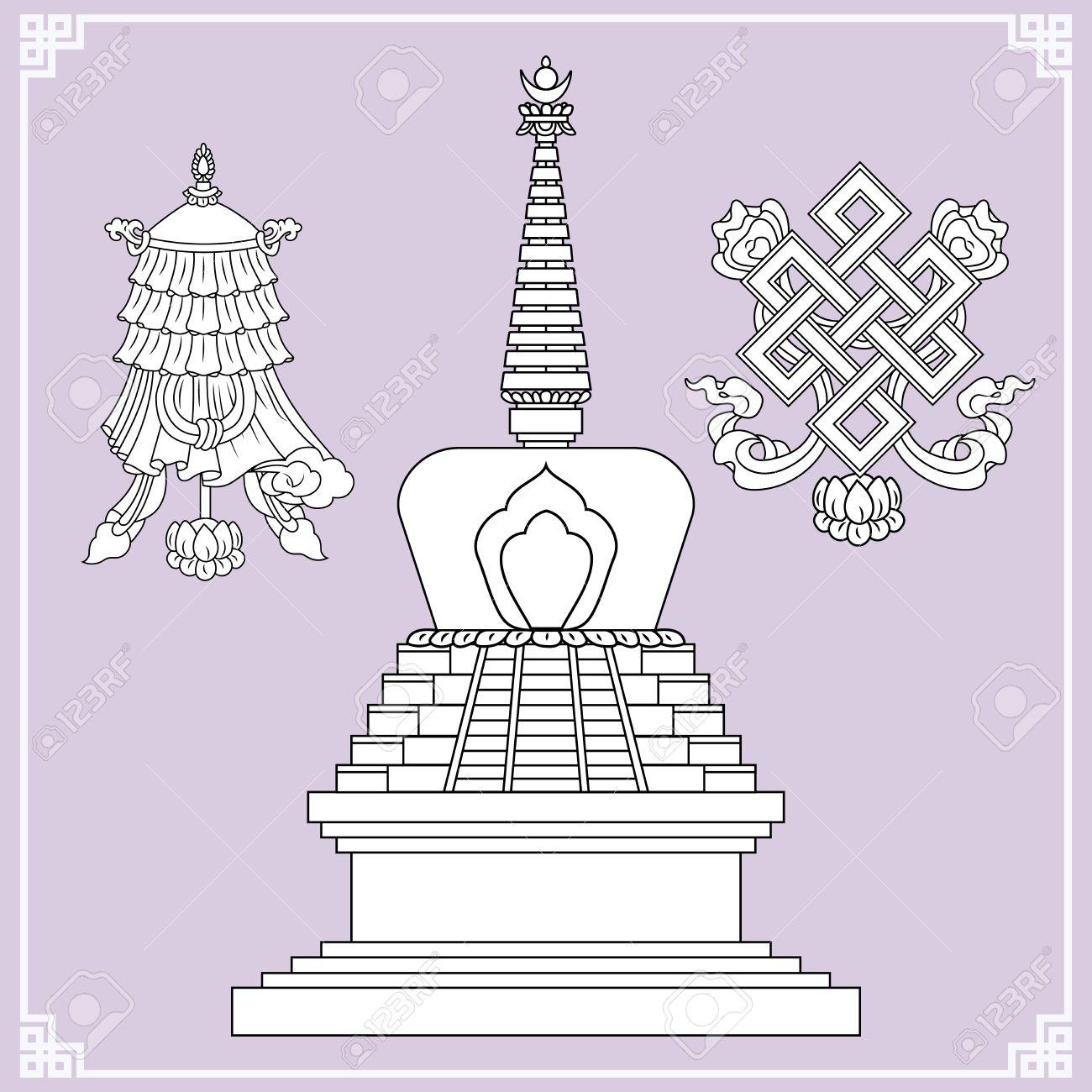 Buddhist Symbols Symbols Wisdom Enlightenment Nepal Tibet