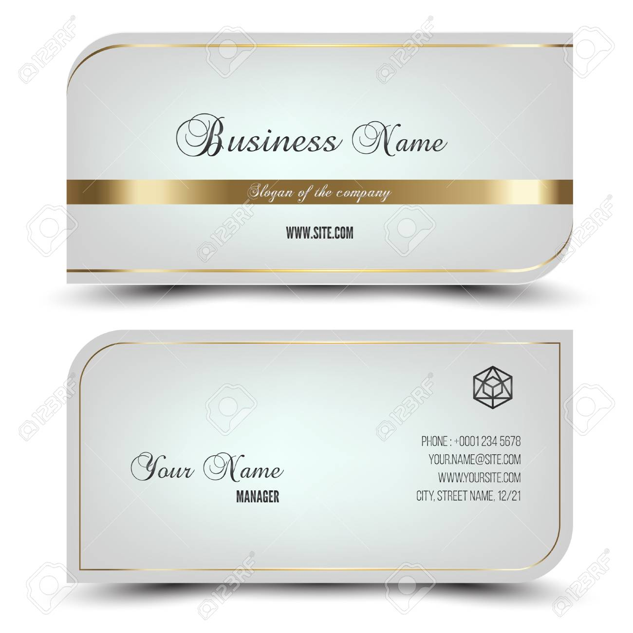 Elegant vector business card and name cardhorizontal simple elegant vector business card and name cardhorizontal simple clean template vector format reheart Image collections