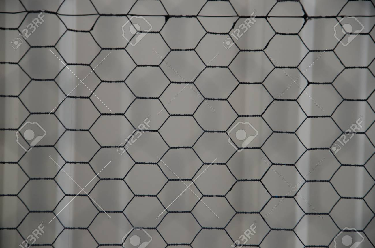 Abstract Pattern Sin Chicken Wire Taken Outside Of A Metal Barn ...