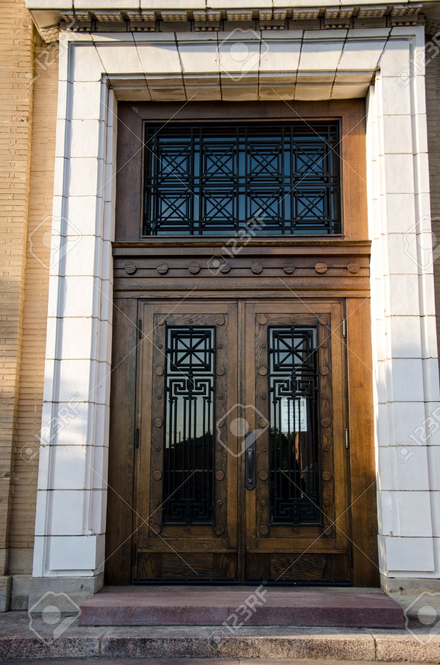 Beautiful wdden double doors of Penrose Public Library in Colorado Springs Colorado Stock Photo - & Beautiful Wdden Double Doors Of Penrose Public Library In Colorado ...