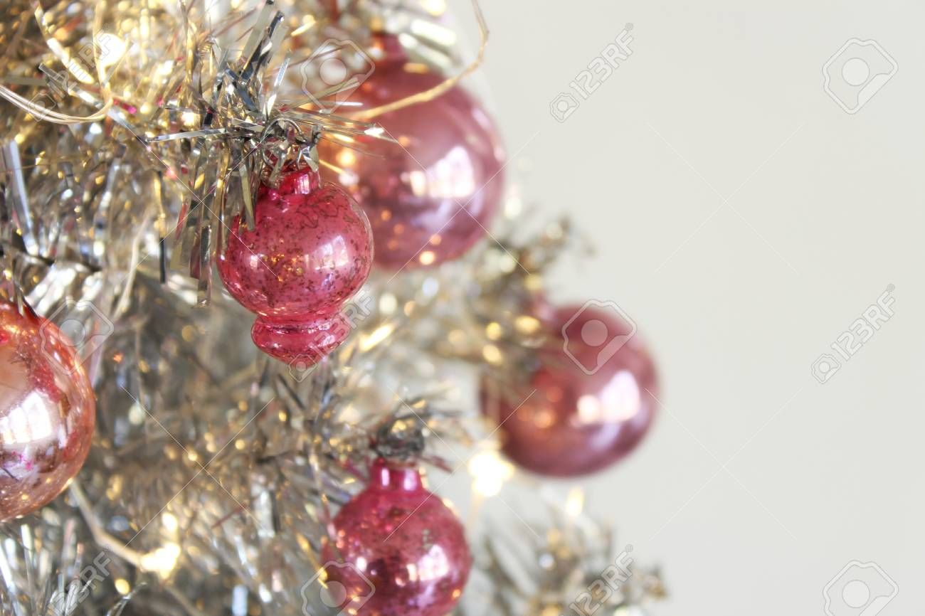 Pink And Silver Christmas Tree Stock Photo Picture And Royalty Free Image Image 88789478
