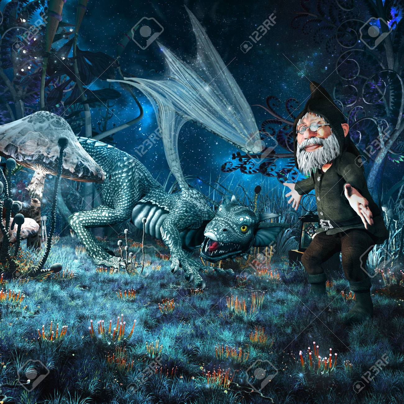 Fantasy Art Old Gnome