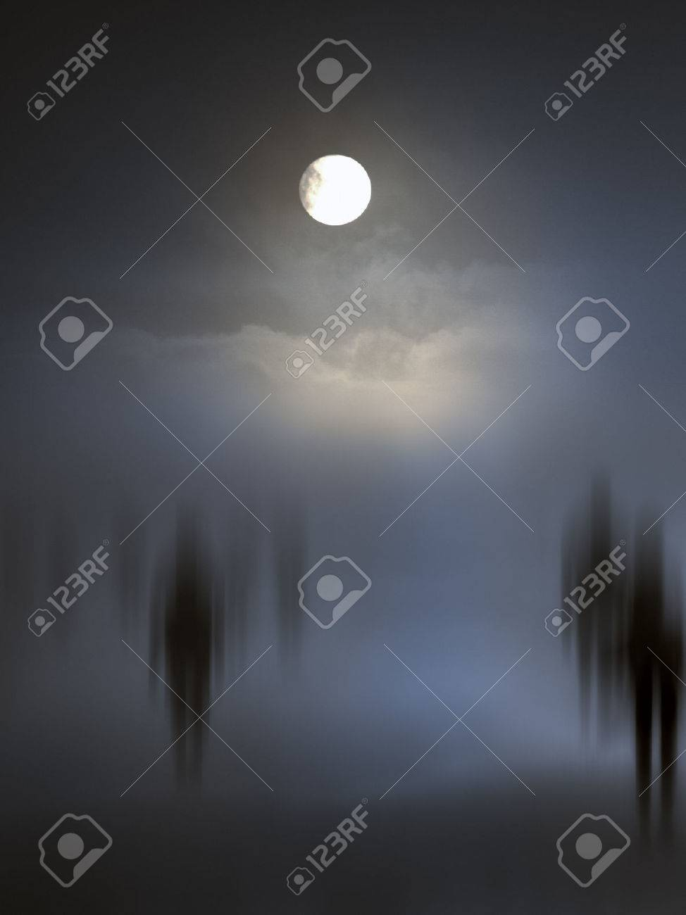 Spooky diffuse entities walking. Other versions in my portfolio. - 29582355