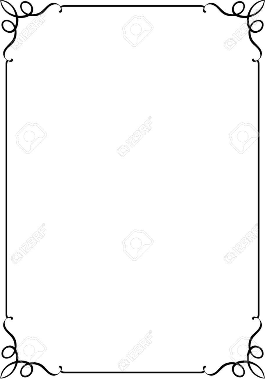 Vector decorative frame. This is a vector image - you can simply edit colors and shapes. Stock Vector - 549001