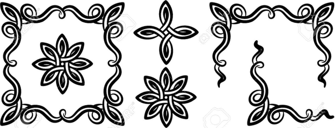 Vector decorative design elements. This is a vector image - you can simply edit colors and shapes. Stock Vector - 548991