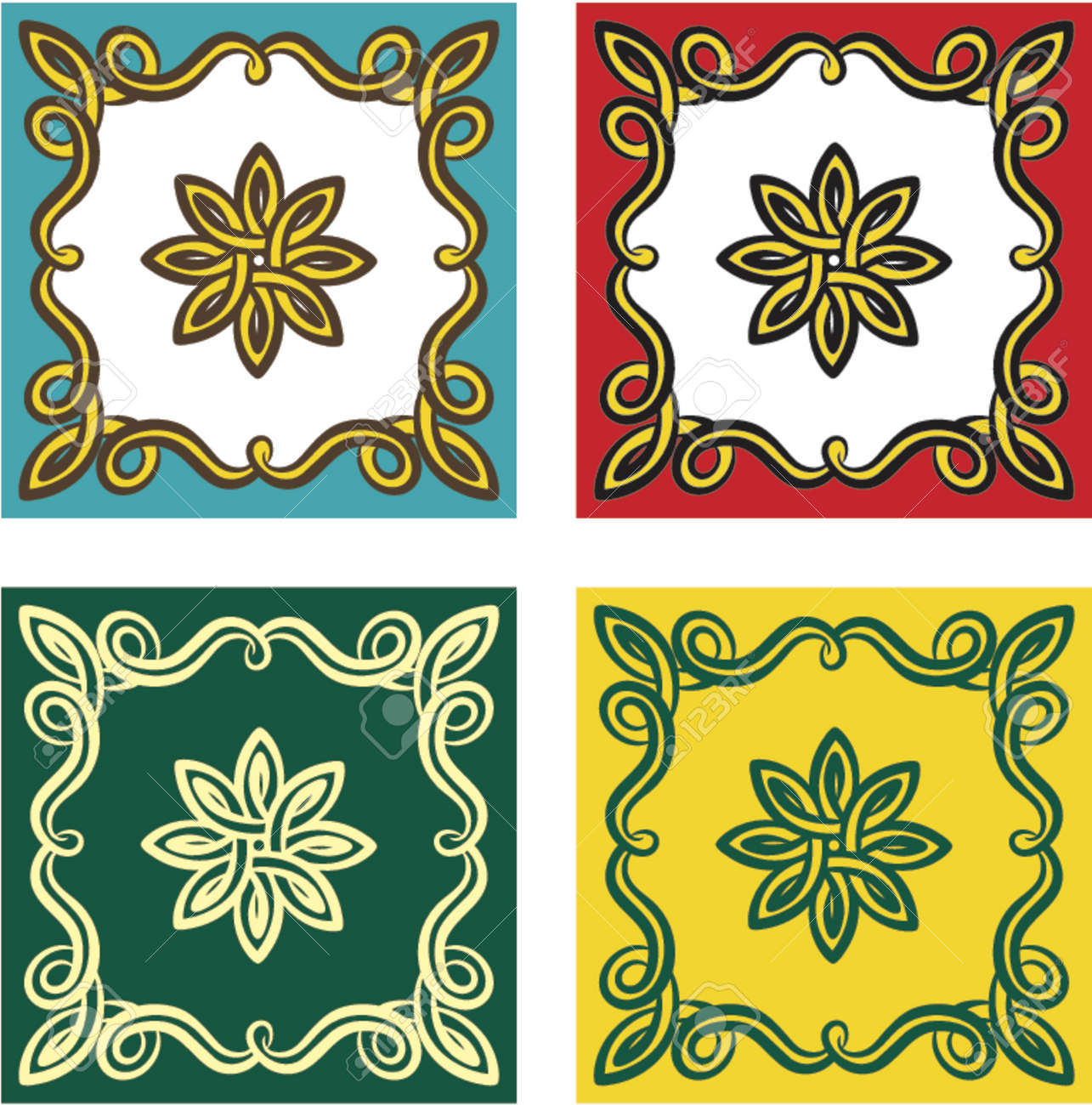 Vector decorative design elements. This is a vector image - you can simply edit colors and shapes. Stock Vector - 548988