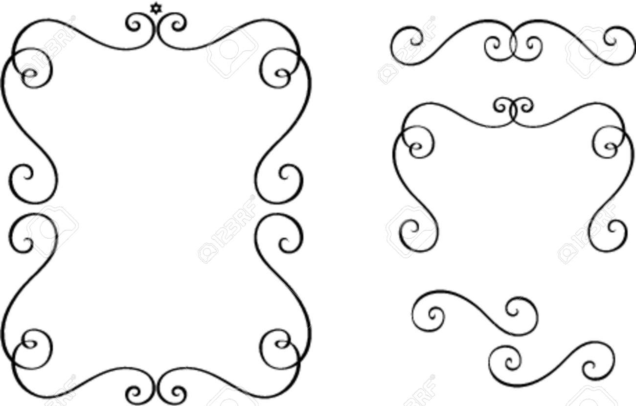 Set of original vector design elements. This is a vector image - you can simply edit colors and shapes. Stock Vector - 562464