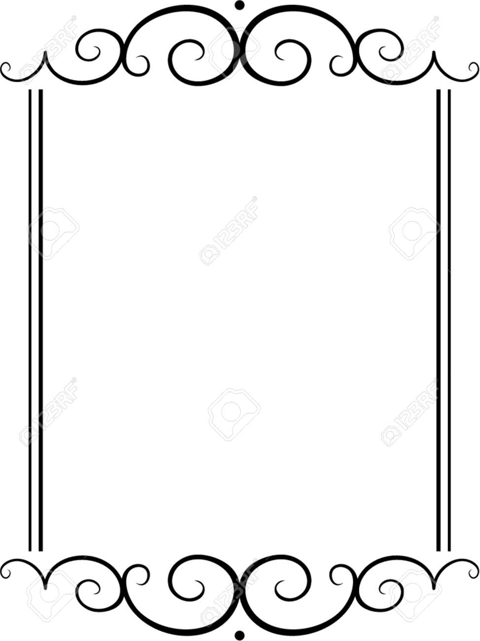 Vector decorative frame. This is a vector image - you can simply edit colors and shapes. Stock Vector - 562453