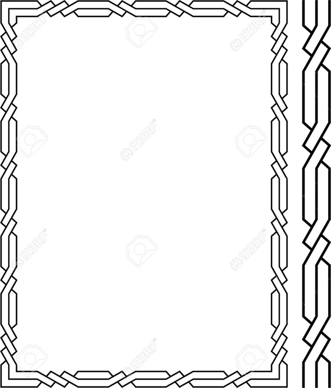 Vector decorative frame. This is a vector image - you can simply edit colors and shapes. Stock Vector - 562490